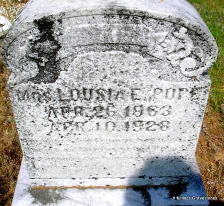 POPE, LOUSIA E - Logan County, Arkansas | LOUSIA E POPE - Arkansas Gravestone Photos