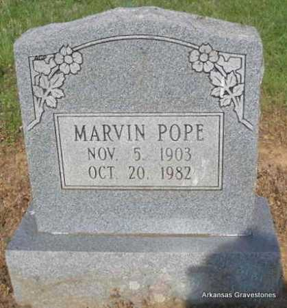 POPE, MARVIN - Logan County, Arkansas | MARVIN POPE - Arkansas Gravestone Photos