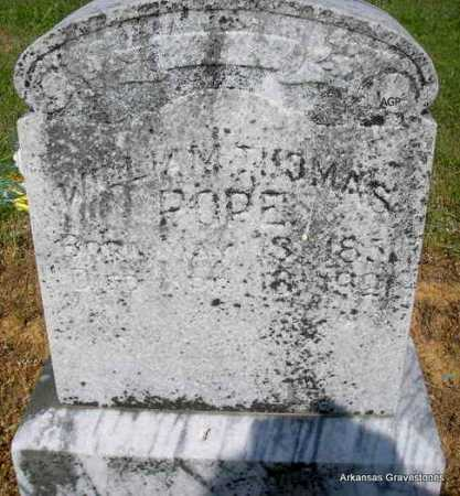 POPE, WILLIAM THOMAS - Logan County, Arkansas | WILLIAM THOMAS POPE - Arkansas Gravestone Photos