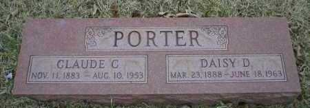 PORTER, CLAUDE C - Logan County, Arkansas | CLAUDE C PORTER - Arkansas Gravestone Photos