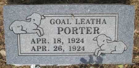 PORTER, GOAL LEATHA - Logan County, Arkansas | GOAL LEATHA PORTER - Arkansas Gravestone Photos