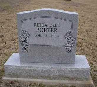 PORTER, RETHA DELL - Logan County, Arkansas | RETHA DELL PORTER - Arkansas Gravestone Photos