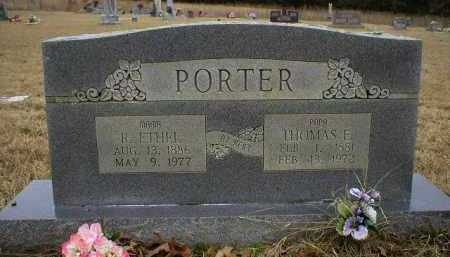 PORTER, THOMAS E - Logan County, Arkansas | THOMAS E PORTER - Arkansas Gravestone Photos