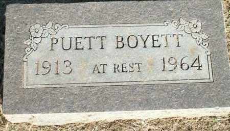 PUETT, BOYETT - Logan County, Arkansas | BOYETT PUETT - Arkansas Gravestone Photos