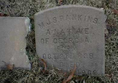 RANKINS  (VETERAN CSA), M J  S - Logan County, Arkansas | M J  S RANKINS  (VETERAN CSA) - Arkansas Gravestone Photos