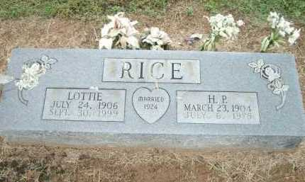 RICE, LOTTIE - Logan County, Arkansas | LOTTIE RICE - Arkansas Gravestone Photos
