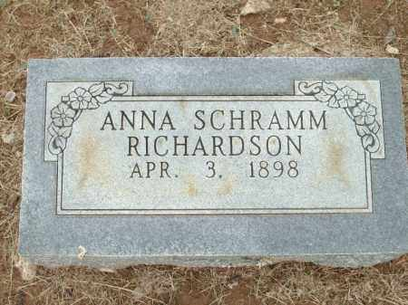 RICHARDSON, ANNA SCHRAMM - Logan County, Arkansas | ANNA SCHRAMM RICHARDSON - Arkansas Gravestone Photos