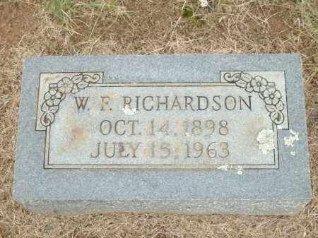 RICHARDSON, W.F. - Logan County, Arkansas | W.F. RICHARDSON - Arkansas Gravestone Photos
