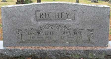 RICHEY, CLARANCE MITT - Logan County, Arkansas | CLARANCE MITT RICHEY - Arkansas Gravestone Photos