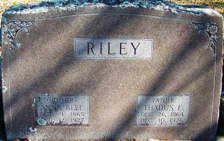RILEY, ANNA BELL - Logan County, Arkansas | ANNA BELL RILEY - Arkansas Gravestone Photos