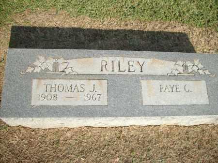 RILEY, THOMAS J. - Logan County, Arkansas | THOMAS J. RILEY - Arkansas Gravestone Photos