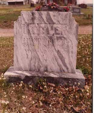 RITCHIE, AMANDA - Logan County, Arkansas | AMANDA RITCHIE - Arkansas Gravestone Photos