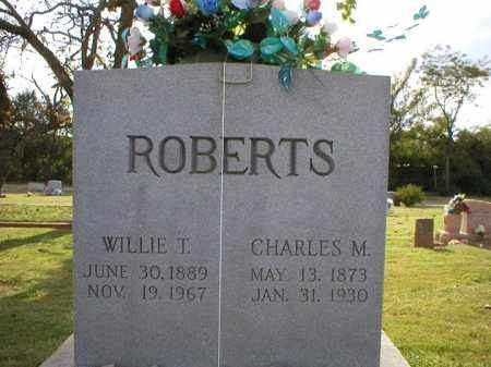 ROBERTS, WILLIE T. - Logan County, Arkansas | WILLIE T. ROBERTS - Arkansas Gravestone Photos