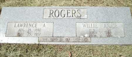 ROGERS, LAWRENCE A - Logan County, Arkansas | LAWRENCE A ROGERS - Arkansas Gravestone Photos