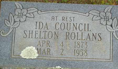 COUNCIL ROLLANS, IDA SHELTON - Logan County, Arkansas | IDA SHELTON COUNCIL ROLLANS - Arkansas Gravestone Photos