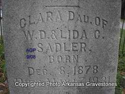 SADLER, CLARA - Logan County, Arkansas | CLARA SADLER - Arkansas Gravestone Photos