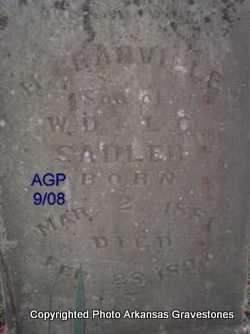 SADLER, H GRANVILLE - Logan County, Arkansas   H GRANVILLE SADLER - Arkansas Gravestone Photos