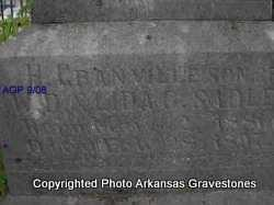 SADLER, H GRANVILLE ( 2ND. STONE) - Logan County, Arkansas | H GRANVILLE ( 2ND. STONE) SADLER - Arkansas Gravestone Photos