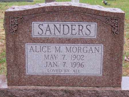 MORGAN SANDERS, ALICE M. - Logan County, Arkansas | ALICE M. MORGAN SANDERS - Arkansas Gravestone Photos