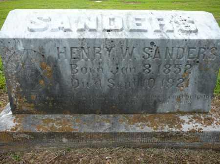 SANDERS, HENRY - Logan County, Arkansas | HENRY SANDERS - Arkansas Gravestone Photos