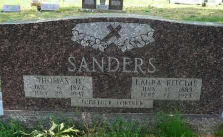 RITCHIE SANDERS, LAURA - Logan County, Arkansas | LAURA RITCHIE SANDERS - Arkansas Gravestone Photos