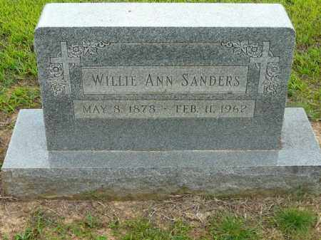 SANDERS, WILLIE ANN - Logan County, Arkansas | WILLIE ANN SANDERS - Arkansas Gravestone Photos