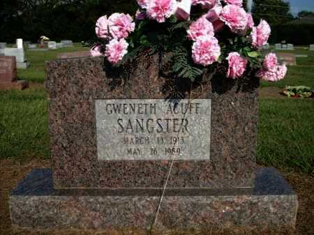 ACUFF SANGSTER, GWENETH - Logan County, Arkansas | GWENETH ACUFF SANGSTER - Arkansas Gravestone Photos