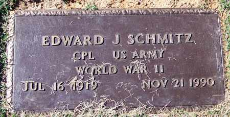 SCHMITZ (VETERAN WWII), EDWARD J - Logan County, Arkansas | EDWARD J SCHMITZ (VETERAN WWII) - Arkansas Gravestone Photos