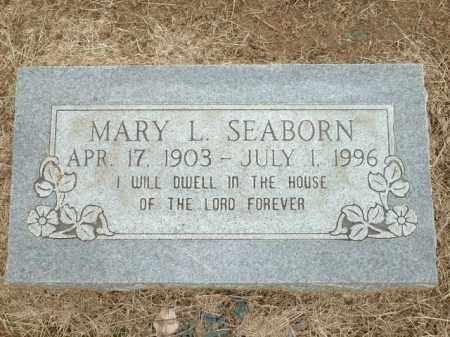 SEABORN, MARY L. - Logan County, Arkansas | MARY L. SEABORN - Arkansas Gravestone Photos