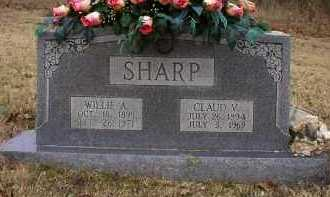 SHARP, WILLIE A - Logan County, Arkansas | WILLIE A SHARP - Arkansas Gravestone Photos