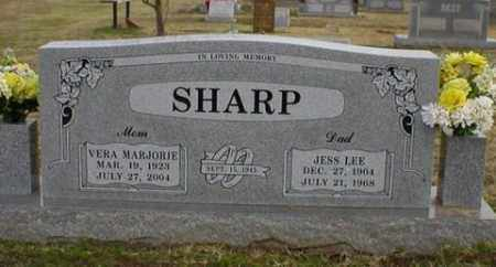 SHARP, JESS LEE - Logan County, Arkansas | JESS LEE SHARP - Arkansas Gravestone Photos