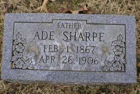 SHARPE, ADE - Logan County, Arkansas | ADE SHARPE - Arkansas Gravestone Photos