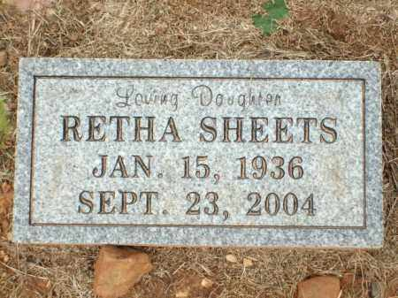 SHEETS, RETHA - Logan County, Arkansas | RETHA SHEETS - Arkansas Gravestone Photos