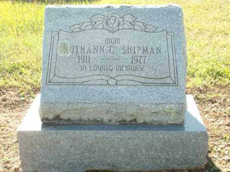SHIPMAN, RUTHANN G. - Logan County, Arkansas | RUTHANN G. SHIPMAN - Arkansas Gravestone Photos