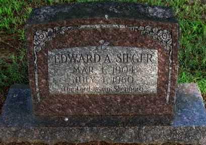 SIEGER, EDWARD A - Logan County, Arkansas | EDWARD A SIEGER - Arkansas Gravestone Photos