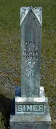 CAGLE SIMES, NORA ELIZABETH - Logan County, Arkansas | NORA ELIZABETH CAGLE SIMES - Arkansas Gravestone Photos