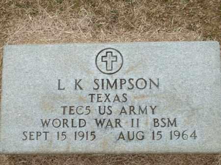 SIMPSON (VETERAN WWII), L K - Logan County, Arkansas | L K SIMPSON (VETERAN WWII) - Arkansas Gravestone Photos