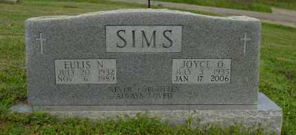 SIMS, JOYCE OLETA - Logan County, Arkansas | JOYCE OLETA SIMS - Arkansas Gravestone Photos