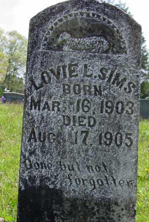 SIMS, LOVIE L - Logan County, Arkansas | LOVIE L SIMS - Arkansas Gravestone Photos