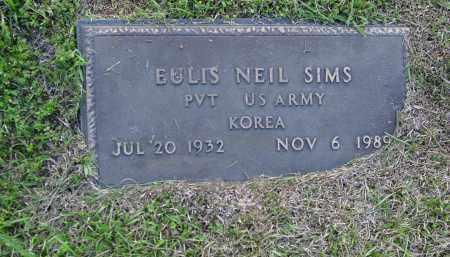 SIMS (VETERAN KOR), EULIS NEIL - Logan County, Arkansas | EULIS NEIL SIMS (VETERAN KOR) - Arkansas Gravestone Photos