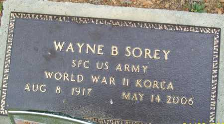 SOREY (VETERAN 2 WARS), WAYNE B - Logan County, Arkansas | WAYNE B SOREY (VETERAN 2 WARS) - Arkansas Gravestone Photos