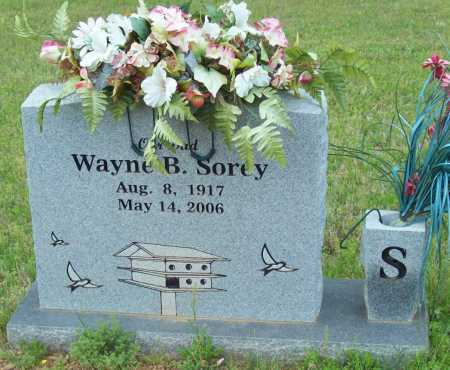 SOREY, WAYNE B. - Logan County, Arkansas | WAYNE B. SOREY - Arkansas Gravestone Photos
