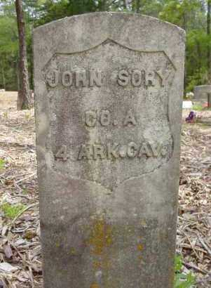 SORY (VETERAN UNION), JOHN - Logan County, Arkansas | JOHN SORY (VETERAN UNION) - Arkansas Gravestone Photos