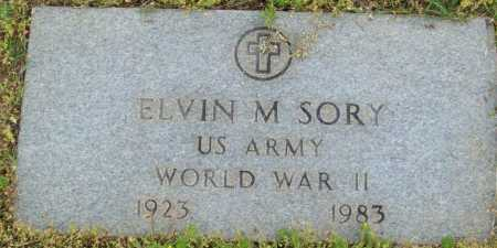 SORY (VETERAN WWII), ELVIN M - Logan County, Arkansas | ELVIN M SORY (VETERAN WWII) - Arkansas Gravestone Photos