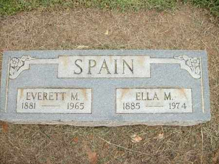 SPAIN, EVERTT M. - Logan County, Arkansas | EVERTT M. SPAIN - Arkansas Gravestone Photos
