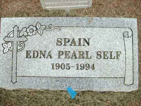SELF SPAIN, EDNA PEARL - Logan County, Arkansas | EDNA PEARL SELF SPAIN - Arkansas Gravestone Photos