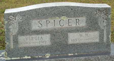 SPICER, VIRGIA - Logan County, Arkansas | VIRGIA SPICER - Arkansas Gravestone Photos