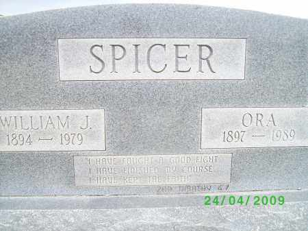 SPICER, ORA - Logan County, Arkansas | ORA SPICER - Arkansas Gravestone Photos