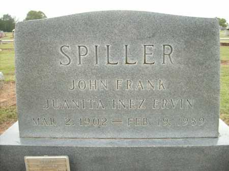 ERVIN SPILLER, JUANITA INEZ - Logan County, Arkansas | JUANITA INEZ ERVIN SPILLER - Arkansas Gravestone Photos
