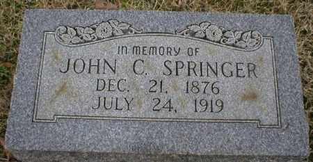 SPRINGER, JOHN C - Logan County, Arkansas | JOHN C SPRINGER - Arkansas Gravestone Photos